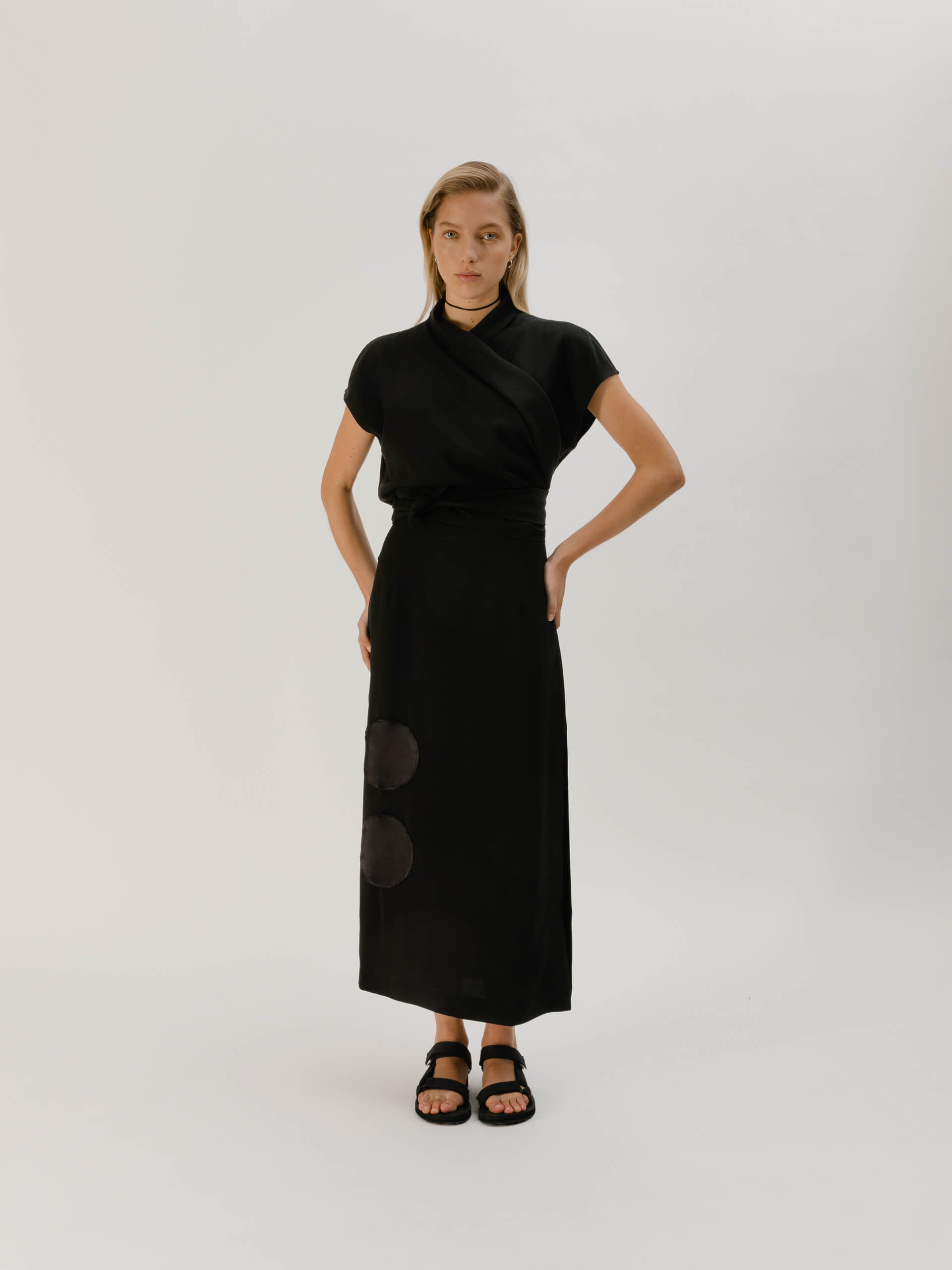Tecla skirt, black